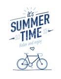 De typografieaffiche van de de zomertijd Stock Foto's