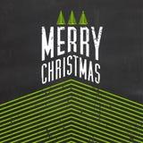De typografische achtergrond van Kerstmis Royalty-vrije Stock Foto