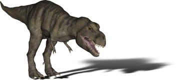 De Tyrannosaurussen Rex van de dinosaurus Stock Fotografie