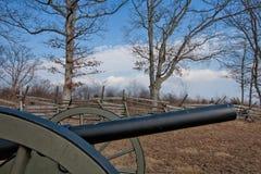 De tysta vapnen för nu av Gettysburg--Inbördeskrigkanon Royaltyfri Bild
