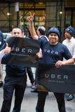 De Uberbestuurders protesteren Royalty-vrije Stock Foto