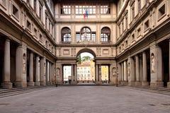De Uffizi-Galerij in Florence stock foto's