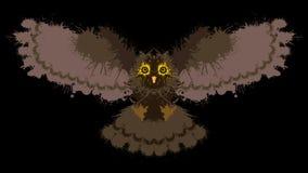 De uil schilderde vlekken stock illustratie