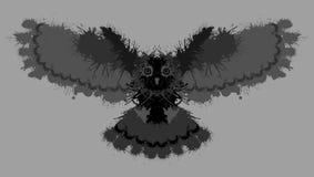 De uil schilderde vlekken Ongebruikelijk grungeontwerp stock illustratie
