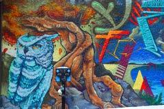 De uil van Montreal van de straatkunst Stock Foto
