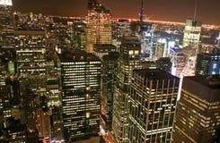 De uit het stadscentrum horizon van de Stad van New York Stock Fotografie