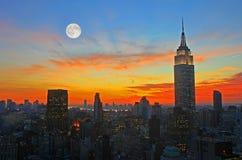 De uit het stadscentrum horizon van de Stad van New York Royalty-vrije Stock Fotografie