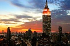 De uit het stadscentrum horizon van de Stad van New York Stock Afbeelding
