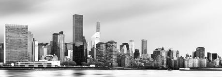 de uit het stadscentrum horizon van Manhattan Royalty-vrije Stock Foto