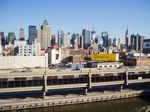 De uit het stadscentrum Pijler van Manhattan Stock Foto