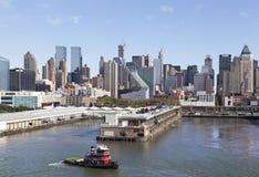 De Uit het stadscentrum Pijlers van Manhattan Stock Afbeeldingen