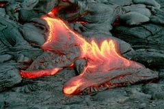 De Uitbarsting van de lava stock afbeeldingen