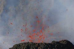 De uitbarsting van de vulkaan Stock Afbeeldingen