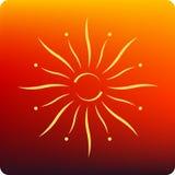 De uitbarsting van de zon Royalty-vrije Stock Foto