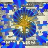 De Uitbarsting van het geld Stock Afbeeldingen