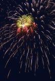 De Uitbarsting van het vuurwerk royalty-vrije stock foto
