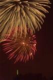 De Uitbarsting van het vuurwerk Stock Afbeelding