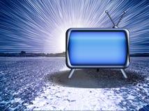 De Uitbarsting van TV Stock Afbeelding