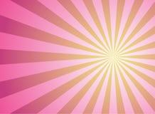 De uitbarstingsachtergrond van de zonlicht wijd horizontale roze kleur met geel hoogtepunt De vectorillustratie van de fantasie stock illustratie