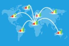 De uitbreiding van de markt. Stock Illustratie