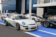 De Uitdaging Oost-Europa van de Kop van Porsche GT3 Stock Afbeeldingen