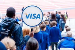 De Uitdaging van de Atletiek van de Onbekwaamheid van Londen van het visum Stock Fotografie
