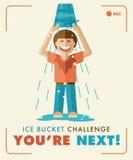 De Uitdaging van de ijsemmer U bent volgende! Royalty-vrije Stock Foto's