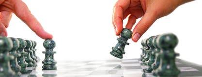 De uitdaging van het schaak Stock Afbeelding