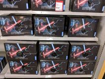 De Uitdagingen van Star Wars Jedi op Vertoning kopen in het gunstigste geval stock fotografie