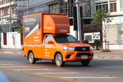 De uitdrukkelijke logistische vrachtwagen van Kerry stock foto