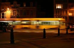 De uitdrukkelijke tram van de middernacht stock foto's
