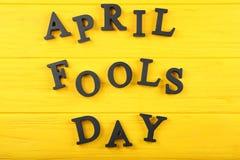 De uitdrukking ` April voor de gek houdt dag ` stock foto's