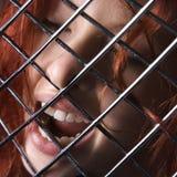 De uitdrukking van de vrouw. Stock Foto