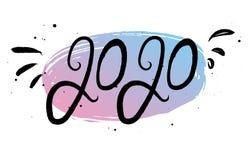 De uitdrukking van de nieuwjaar 2020 kalligrafie stock illustratie