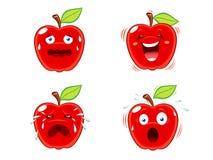 De uitdrukkingen van de appel Stock Foto