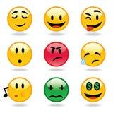 De uitdrukkingen van Emoticons Stock Foto's