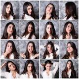 De uitdrukkingen van het meisje royalty-vrije stock foto