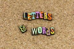 De uitdrukkingsspelling van brievenwoorden vector illustratie