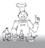 De uiteinden van de chef-kok stock illustratie