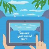 De uiteinden van de de zomerreis royalty-vrije illustratie