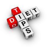 De Uiteinden van het dieet Stock Foto