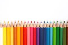De Uiteinden van het kleurpotlood Stock Foto's