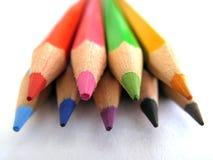 De uiteinden van het potlood Stock Foto