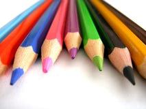 De uiteinden van het potlood Stock Afbeelding