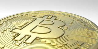 De uiterst gedetailleerde en realistische illustratie van hoge resolutie 3D Bitcoin Stock Afbeelding