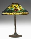 De uiterst Zeldzame Lamp van de Papaver van Tiffany met verdraaid vin Stock Foto
