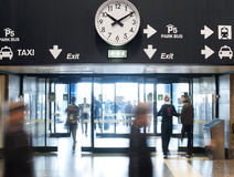 De uitgang van de luchthaven Royalty-vrije Stock Foto