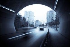 De uitgang van de tunnel stock foto