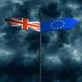 De uitgang van Groot-Brittannië van Europese Unie relatief beeld Royalty-vrije Stock Fotografie