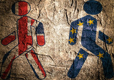De uitgang van Groot-Brittannië van Europese Unie Brexit Stock Foto